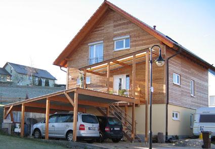 Wulf Systeme Alu Glas Holz Angebot Carports/Garagen